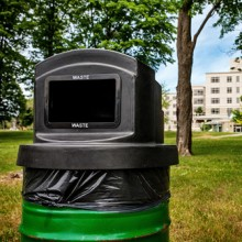 Outdoor Recycling & Waste Receptacle