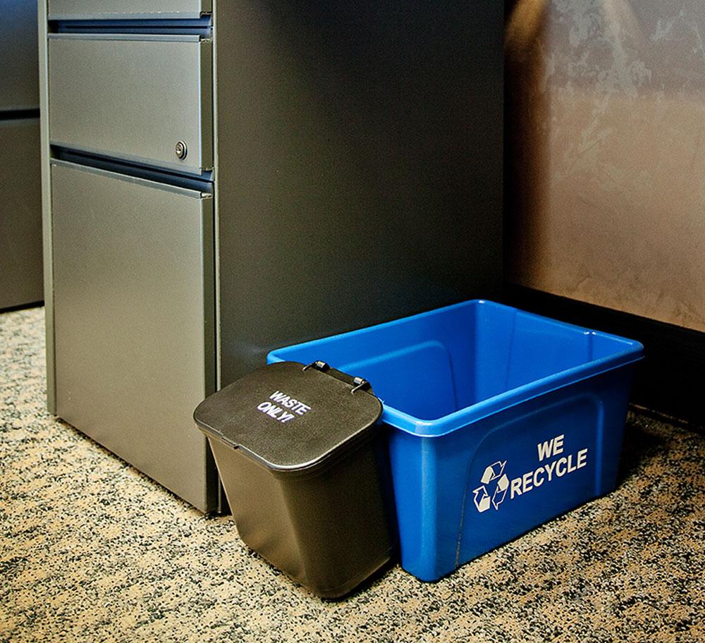 Deskside Recycling Bin Busch Systems Usa
